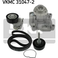Pompe à eau+Jeu de courroie trapézoïdale à nervures SKF - VKMC 31047-2