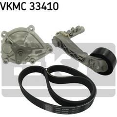 Pompe à eau+Jeu de courroie trapézoïdale à nervures SKF - VKMC 33410