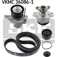 Pompe à eau+Jeu de courroie trapézoïdale à nervures SKF - VKMC 36086-1