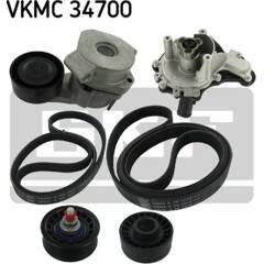 Water Pump + V-Ribbed Belt Kit SKF - VKMC 34700