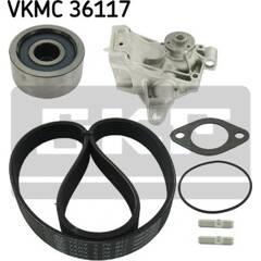 Water Pump + V-Ribbed Belt Kit SKF - VKMC 36117