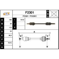 Drive Shaft SNRA - F2301