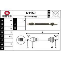 Drive Shaft SNRA - N1159