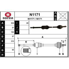 Drive Shaft SNRA - N1171