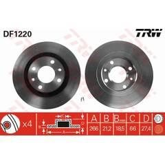Jeu de 2 disques de frein TRW - DF1220