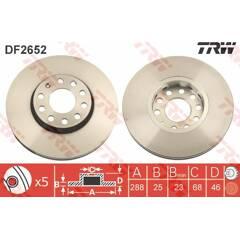 Jeu de 2 disques de frein TRW - DF2652