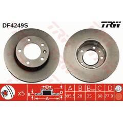 Disque de frein (à l'unité) TRW - DF4249S