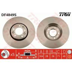 FIAT SCUDO 1.9 D Box 68 plaquettes frein Avant Disques 281 mm ventilé