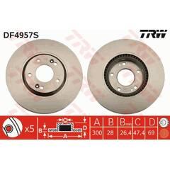 Disque de frein (à l'unité) TRW - DF4957S