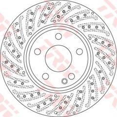 Disque de frein (à l'unité) TRW - DF6262S