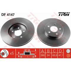 Brake disc set (2) TRW - DF4147