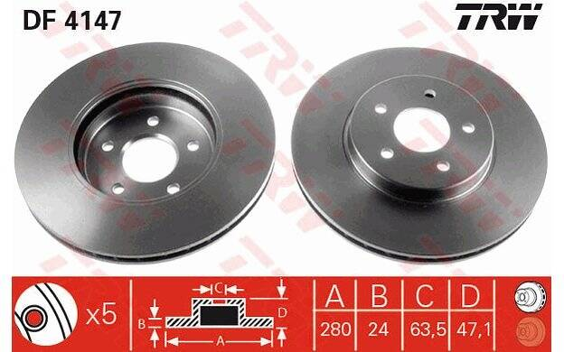 Brake disc set (2)