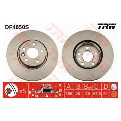 Brake disc (sold individually) TRW - DF4850S