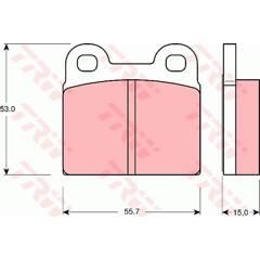 Brake Pad Set TRW - GDB102