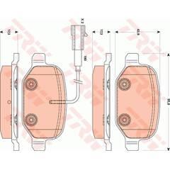 Jeu de 4 plaquettes de frein à disque TRW - GDB1881