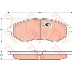 Jeu de 4 plaquettes de frein à disque TRW - GDB3330