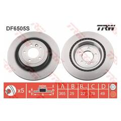 Brake disc (sold individually) TRW - DF6505S