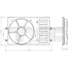 Support (ventilateur radiateur) TYC - 837-0035-1