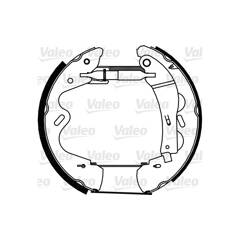 Brake Set, drum brakes VALEO - 554904