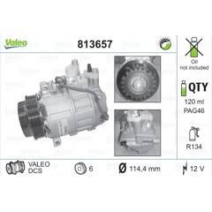 Compresseur de climatisation VALEO - 813657