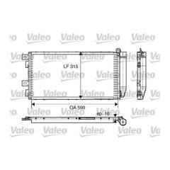 Condensator, airconditioning VALEO - 817547
