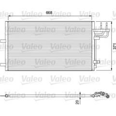 Condensator, airconditioning VALEO - 818046