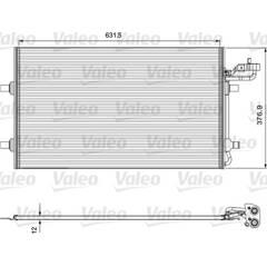 Condenser, air conditioning VALEO - 814324