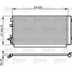 Condenseur de climatisation VALEO - 814187