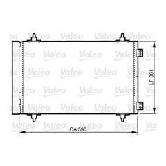 Condenseur de climatisation VALEO - 814366