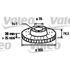 Disque de frein (à l'unité) VALEO - 187154