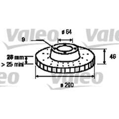 Disque de frein (à l'unité) VALEO - 187155