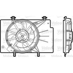 Electric Motor, radiator fan VALEO - 696344