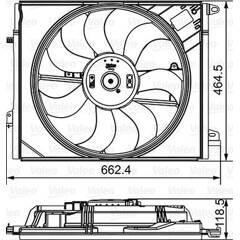 Electric Motor, radiator fan VALEO - 696881
