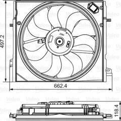 Fan, radiator VALEO - 696583