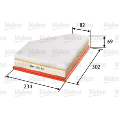 Filtre à air VALEO - 585401