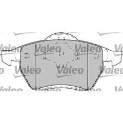Brake Pad Set VALEO - 598483