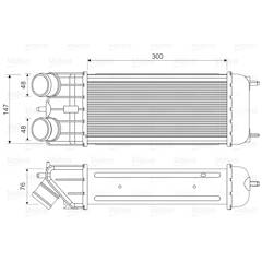 Intercooler (échangeur d'air) VALEO - 818663