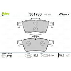 Jeu de 4 plaquettes de frein arrière VALEO - 301783