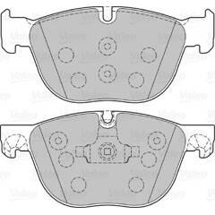 Jeu de 4 plaquettes de frein avant VALEO - 301130