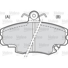 Jeu de 4 plaquettes de frein à disque VALEO - 598002