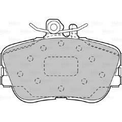 Jeu de 4 plaquettes de frein à disque VALEO - 598013