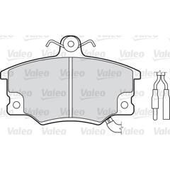 Jeu de 4 plaquettes de frein à disque VALEO - 598219