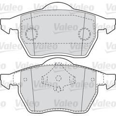 Jeu de 4 plaquettes de frein à disque VALEO - 598355
