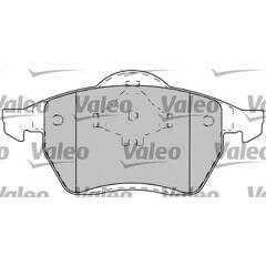 Jeu de 4 plaquettes de frein à disque VALEO - 598483