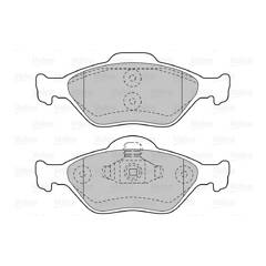 Jeu de 4 plaquettes de frein à disque VALEO - 598564