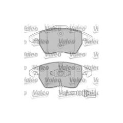 Jeu de 4 plaquettes de frein à disque VALEO - 598635