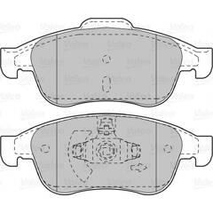 Jeu de 4 plaquettes de frein à disque VALEO - 601045