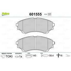Jeu de 4 plaquettes de frein avant VALEO - 601555