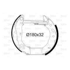 Kit de freins arrière VALEO - 554718