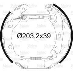 Kit de freins arrière VALEO - 554726